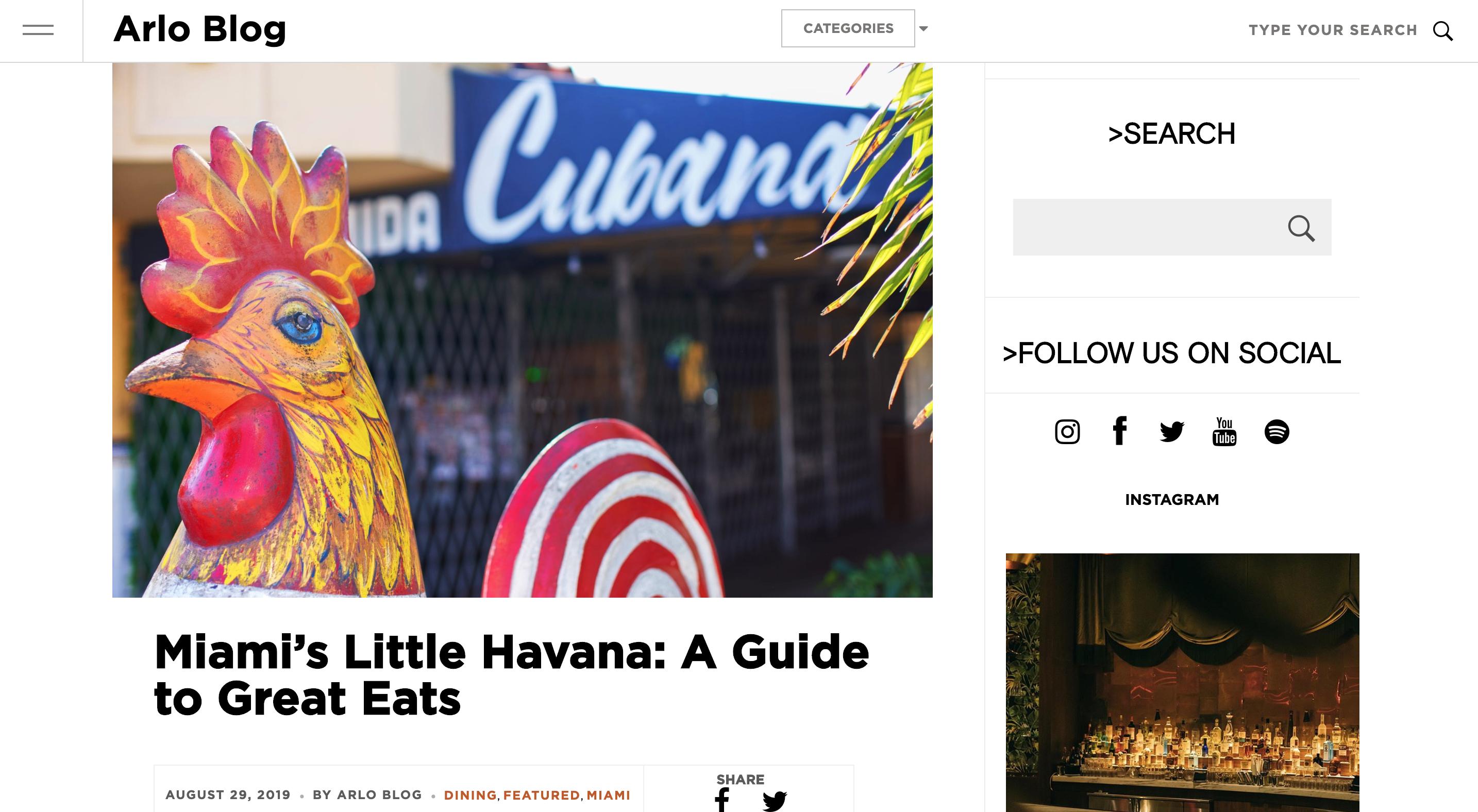 Screenshot of original publication on Arlo Hotel Blog.
